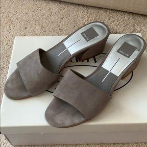 Grey heel slides